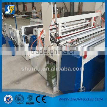 Toilet paper slitter rewinder machine/toilet paper rewinding slitting machine/toilet paper processing machine