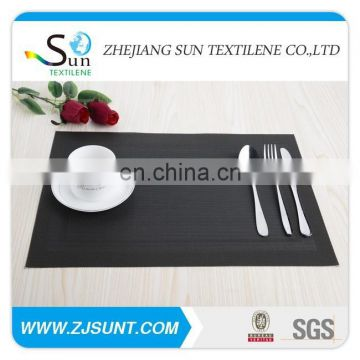 Hot sale black double rectangle placemat in 2015