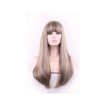Shedding free 24 Inch Full Lace Human Hair Wigs Indian Smooth Silky Straight