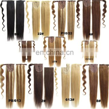 20 inch virgin remy brazilian hair weave ponytail holder