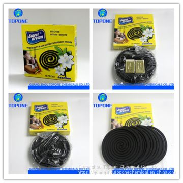 China Safe Chemical Formula 145mm Black Smokeless Mosquito Coil
