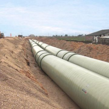 Fiberglass Reinforced Pipe Epoxy Fiberglass Tube Smooth Surface Construction
