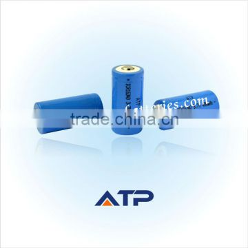 Great power rechargeable li-ion battery 16340 for diving powerful led flashlight / 3.7v lithium li-ion polymer battery