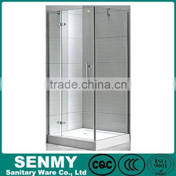 Square blind via hold glass design adjustable aluminium profile acrylic base or tray hinge opened air shower clean room