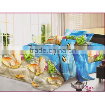 Hot sale 100% polyester fancy 3d bed sheet new design elegant flower printing colorful high quality bed sheet/3d bed cover set