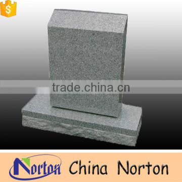 Chinese supply cheap gray granite simple design funeral