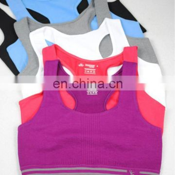 sports yoga bra with removable pads for women
