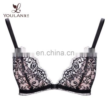 Low MOQ Wholesale Custom Lingerie Latest Fashion Sexy Women Lace Bralette Bra