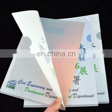 L shape clear document folder