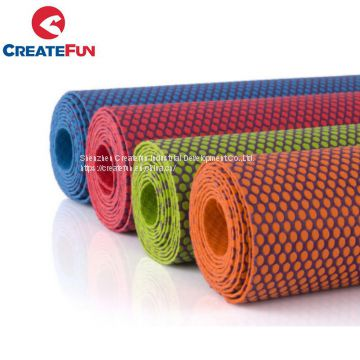 CreateFun New Product Printed Non-slip Natural Rubber Yoga Mat