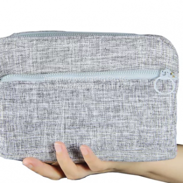 zipped fabric handbag purse pouch with waterproof fabric