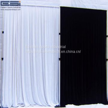 ESI wholesale stage backdrop stand adjustable pipe and drape with double crossbar