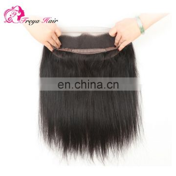 Top grade wholsale price human hair 360 lace frontal