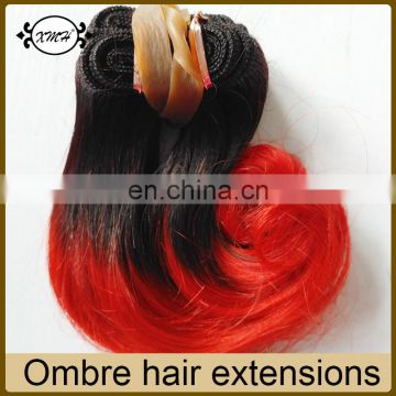 Cheap 6inch Short Hair Weaves for Black Women Ombre Colors 1B/27 30 Red Blue Purple Grey