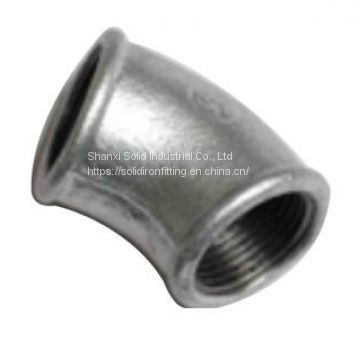 Malleable iron pipe fitting elbow