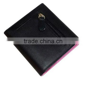 RFID Blocking Women's Slim Wallet In Genuine Leather Contrast Colour