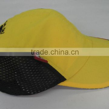 Custom Nylon Promotion Baseball Cap with hole 4 panel Short Bill Baseball hats Short Bill Mesh Beach Hat For Man