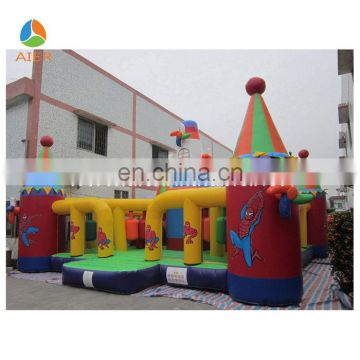 Spiderman inflatable windmill castle playground