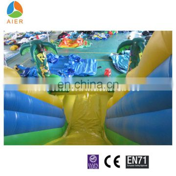 factory price jungle theme inflatable slides for sale, giant inflatable slide for adult