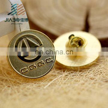 custom made letter lapel pin badge 24k gold plating zinc alloy lapel pins