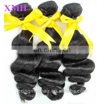 Top Grade 7a Peruvian Hair Loose Wave,High Quality Natural Wavy Soft Virgin Peruvian, 100%Unprocessed Human Hair Weaving