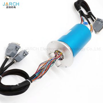 300RPM Pneumatic Rotary joint electrical flange type slip ring