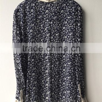 Elegant New Fashion Leopard Print Silk Shirt for High Fashion Brands