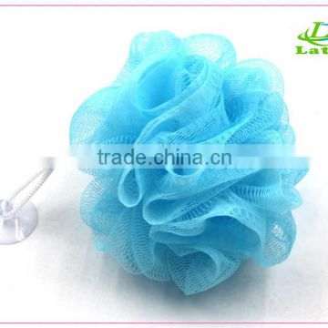 Customized wholesale multicolor body rubbing ball puff mesh loofah shower                                                                         Quality Choice