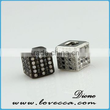 Jewelry findings micro pave crystal jewelry, flat rondelle crystal bead, square spacer crystal beads