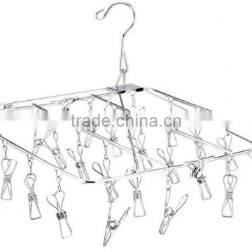 201 stainless steel cloth hanger/ laundry rack/folding clothes drying rack-24 hangers
