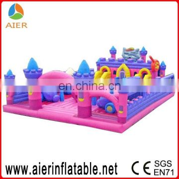 China high quality inflatable funcity/commercial big bouncy castle for sale