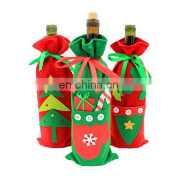 Christmas decorations Wine bottle clothing Cover Dress
