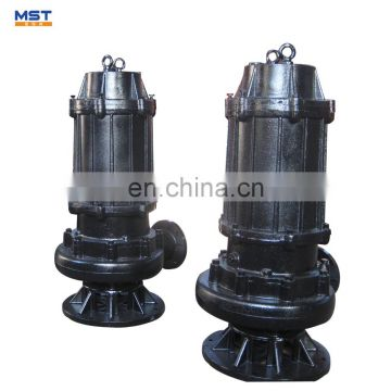 Submersible water pump for fecal and dirty water