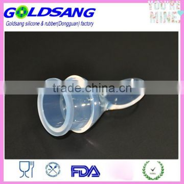 Silicone Extruding Assisted Food Feeder Weaning Spoon Feeding Bottle