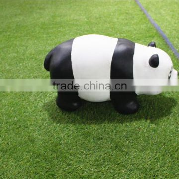 Home garden seats christmas decorative 30cm Height small artificial white and black fiberglass chinese flat Panda E10 28X08