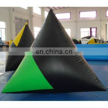 inflatable paintball bunkers/inflatable paintball tent/spike guard paintball field/inflatable dorito pyramid paintball obstacles