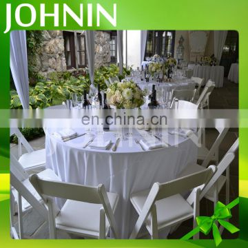 Wholesale professional custom fashion design plain wedding round table cloth
