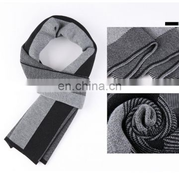 Wholesale Winter Gentleman Comforter Stripe&plaid Design Jacquard Woolen Scarf