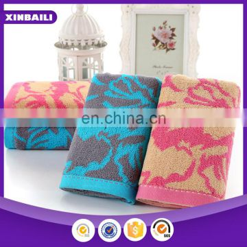 wholesale custom 100% cotton jacquard face towel