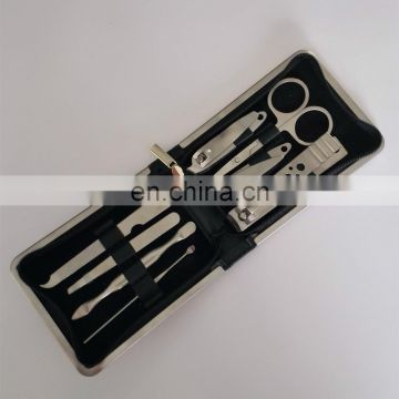 Factory Outlet High Grade Manicure Scissors set Stainless Steel silver polished Nail Clippers