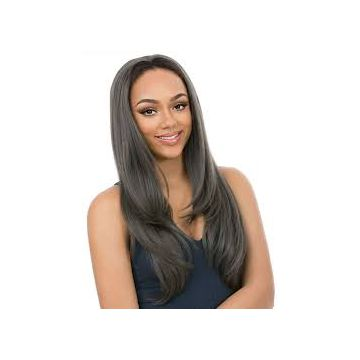 Natural Black 12 Inch Mixed Color Full Lace Human Hair Wigs No Damage Body Wave