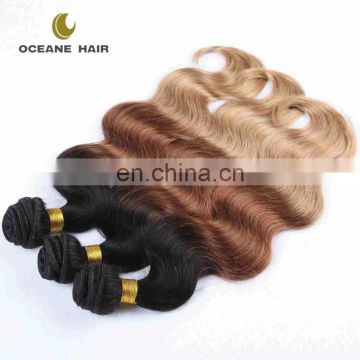 Mongolian ombre color human hair weft body wave