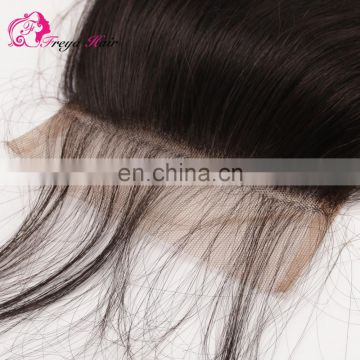 Hot selling top quality natural hair color hair cheap lace closure