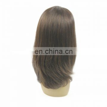 overnight delivery Silk Top Indian Women Hair Wigs,100% Human Hair Full Lace Wig
