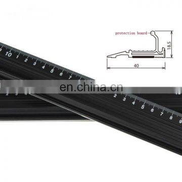 "Measuring and cutting safety aluminium ruler 7.8"" 11.7"" 17.7"" three size in choice"