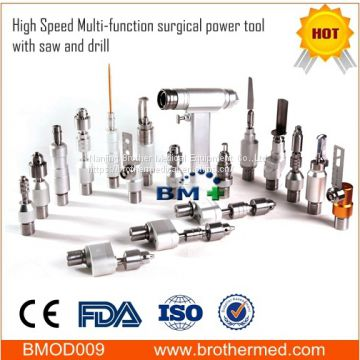 High Speed Multi-function surgical power tool with saw and drill