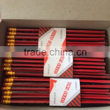 Students pencils wooden Pencils with eraser with wholesale price