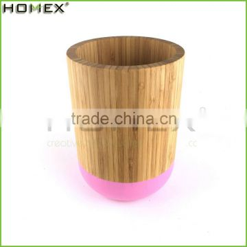 Bamboo Kitchen Utensil Holder Utensil Caddy w Color Edge Homex-BSCI Factory