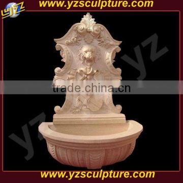 nature stone indoor waterfall wall fountain with lion head