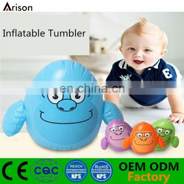 Customizable cartoon figure shaped inflatable small tumbler inflatable desk punching bag